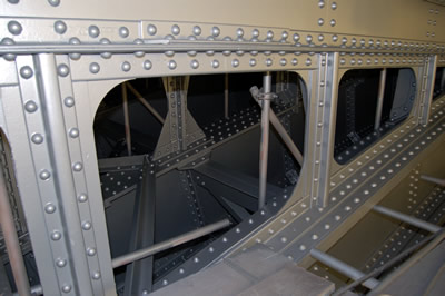 The arch covered with High Build Aluminium Primer