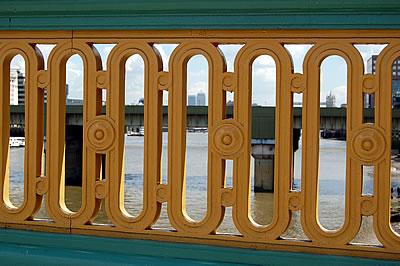 Newly painted Bridge Parapet (Span 5)